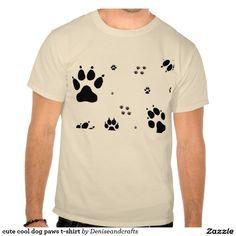 cute cool dog paws t-shirt