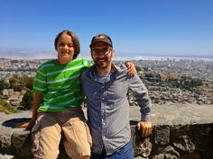 My grandson and son on a California trip 2012