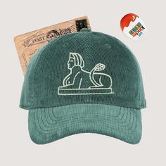 c9110430753 Corduroy Dad Hat (Hasty Pudding Sphinx Hat - Green) Hasty Pudding