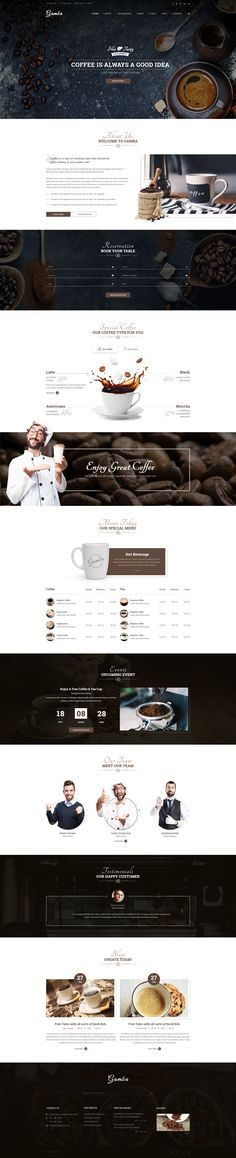 Gamba - Coffee & Drink PSD Template - PSD Templates | ThemeForest