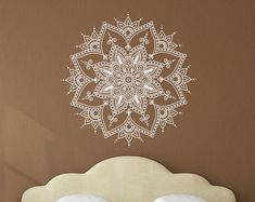 Bohemian Wall Decal Bedroom Decor Mandala Wall Art by HomyVinyl