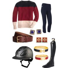 Riding ootd; skipped school to try horses… :), created by jesslifschultz on Polyvore