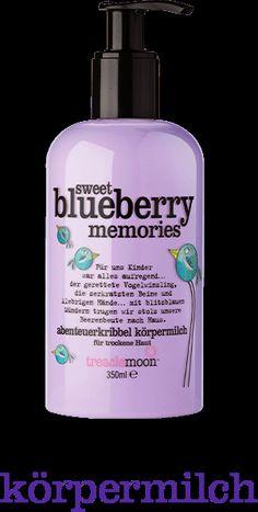 Sommerliche Körpermilch mit Pumpspender: sweet blueberry memories von treaclemoon