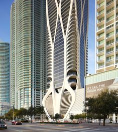 Image 30 of 30 from gallery of One Thousand Museum Residential Tower / Zaha Hadid Architects. Photograph by Hufton+Crow Architecture Quotes, Chinese Architecture, Modern Architecture House, Futuristic Architecture, Modern Houses, Miami Architecture, Parametric Architecture, Landscape Architecture, Arquitetura