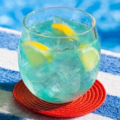 Whether you're lounging poolside, or dreaming of summer, this vodka lemonade punch is the ultimate warm-weather drink. Pinnacle® vodka combines with citrus-infused blue curacao and lemonade to create an eye-catching cocktail you and your guests won't want to put down.