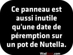 qu'une date de péremption sur un pot de Nutella.