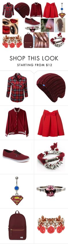 """""""Leave me alone, Please!"""" by lottie44 ❤ liked on Polyvore featuring Keds, Vans, Herschel Supply Co. and Mawi"""