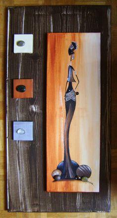 rastablos - Sylphide créations African Artwork, African Art Paintings, African Girl, African American Art, Art Africain, Krishna Art, Acrylic Canvas, Home And Deco, Tribal Art