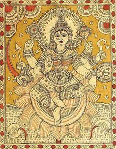 Indian Painting Styles...Kalamkari Paintings (Andhra Pradesh)-durga1-2-.jpg