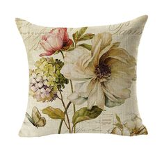 RUBIHOME Creative Decorative Cushion Cover Throw Pillowcase Polyester Thickness Fabric Home Decor Plant Flower Design #Affiliate