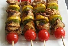 Low Carb Chicken Kabobs - Delicious And Easy Low Carb Grilled Chicken Kabobs Perfect For An Outdoor Gathering. 9 carbs