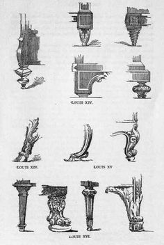 Period Furniture Leg Styles Furniture Charts Pinterest