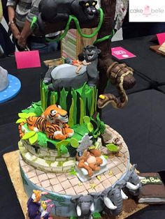 The Jungle Book Cake.  My cake on show at the Cake & Bake Show London 2015