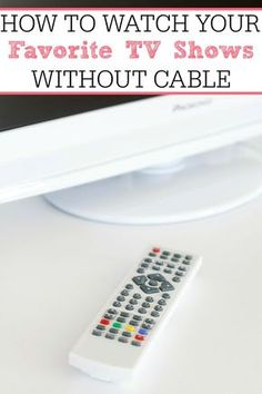 Ditch cable and save money with these awesome ideas! You can see how to watch your favorite tv shows without cable. You don't need cable to enjoy all the shows you love.