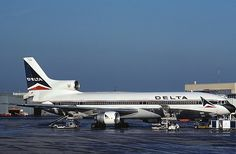 This is a Lockheed 1011 (L-1011).  There are no American carriers still flying the L-1011 today (some charter carriers bought the old ones from airlines and use them).  TWA, Eastern, Delta, and others were some of the larger carriers who used the L-1011 in the 70's and 80's.
