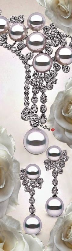 Pearl Jewelry, Jewelry Box, Jewelry Accessories, Ana White, White Gold, Pearl Jam, South Sea Pearls, Pearl Diamond, Bling
