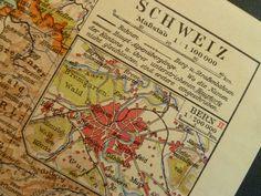 1926 old German map of Switserland  vintage by VintageOldMaps, €10.95