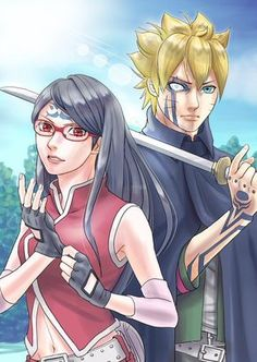 Boruto and Sarada in the future... My couple favorite ❤ #borusara #naruto #boruto #sarada