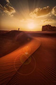 Sunset desert, Riyadh, Saudi Arabia
