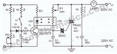 light dimmer circuit schematic
