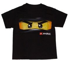 "E's now insisting on a ""ninjago"" party.  :(  -- Amazon.com: Lego Ninjago Cole the Black Ninja Glow in the Dark Boys T-shirt: Clothing"