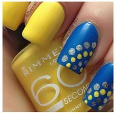 Easy nail design, but different colors Crafts/DIY | Nail easy nail designs