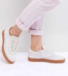 127766be4550 Reebok Classic Club C 85 Palm Springs Sneakers In Gray Asos Sale
