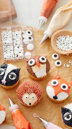 Cupcake Cake Designs, Cupcake Icing, Baking Cupcakes, Yummy Cupcakes, Buttercream Cake, Cupcake Cookies, Cupcake Recipes, Baking Recipes, Frosting
