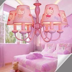 51.00$  Buy here - http://alibga.worldwells.pw/go.php?t=32771742631 - Cartoon Led Pink Chandelier 3/5/6Lamp Suspension Kids Room  110V-220V E14  Led Chandelier Flower Chandeliers for The Bedroom 51.00$