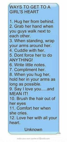 Except #5: dont force them but encourage her, push her, grow with her