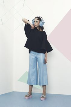 Combining performance sportswear and kitsch, creates a super chic and modern look,with a touch of lollypop. Soft Power, Pastel Blue, Pantone, Sportswear, Chic, Kitsch, Pastels, Ss, Touch
