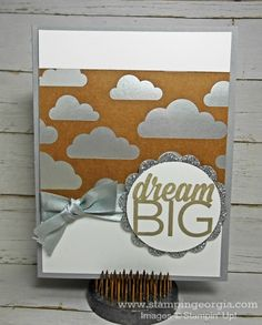Love this Shine On Specialty Paper!  Details for this quick and easy graduation/congrats card on my blog . . . www.stampingeorgia.com