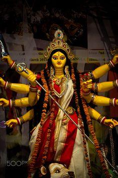 Maa Durga (Hindu Godess) by joy kumar / Shiva Parvati Images, Durga Images, Shiva Shakti, Hanuman Images, Krishna Images, Maa Durga Photo, Maa Durga Image, Lord Durga, Durga Ji