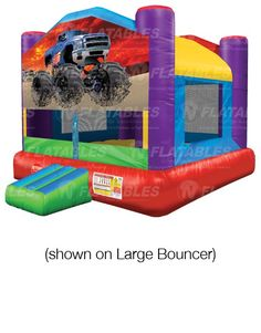 8 delightful monster truck inflatables images inflatable bounce rh pinterest com