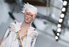 Manish Arora-From garbage bag-themed purses to surrealist hats, designers at Paris Fashion Week Spring/Summer 2014 presented unique and creative designs on the runway. via NBCNews.com