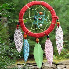 Paper Feather Dreamcatcher