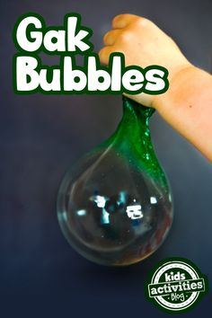 Stretchy gak bubbles are another fun way to play with your homemade gak.
