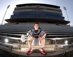 Great idea for Senior Picture, in stadium taken with a fisheye lens.
