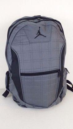 NWT NIKE JORDAN Jumpman Backpack Gray Black Laptop Tablet Storage Bag  9A1137-783  Nike  BackpackBookbag  ebay  Nike  BackpackBookBag   LaptopStorageBag aa21b30898