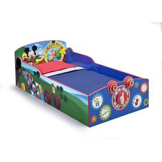 Disney Mickey Mouse Interactive Wood Toddler Bed (Mickey Mouse), Blue