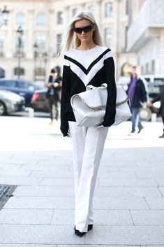 Black and white executed with sporty edge and luxe accessories.