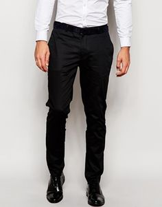 ASOS Super Skinny Smart Trousers In Cotton Sateen