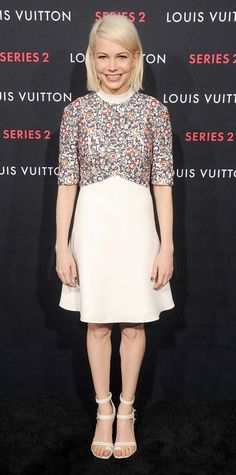 Look of the Day - February 06, 2015 - Michelle Williams in Louis Vuitton from #InStyle