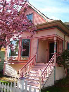 Pink Tiny vacation House. My hubby will have a fit, but I'll calm him down