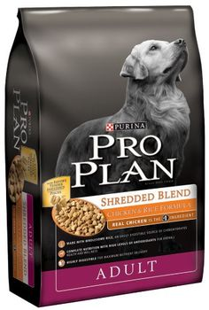 $44.99-$51.57 Pro Plan Dry Dog Food, Shredded Blend Chicken and Rice Formula, 35-Pound Bag - Complete nutrition with real chicken as the #1 ingredient, this Pro Plan Original Chicken and Rice Formula is specially formulated to bolster your dog's key protective systems - the immune system, digestive system and skin & coat systems - and deliver exceptional nutrition. http://www.amazon.com/dp/B001QCKS4O/?tag=pin2pet-20