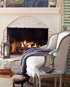 Eight Ways to Bring New Life to Vintage Pieces - Page 3 of 4 - Cottage Journal Upholstery Fabric Spray Paint, Vintage Wire Baskets, Vintage Shutters, Traditional Frames, Open Fireplace, Fireplace Mantels, Vintage Suitcases, Outdoor Paint, Antique Market
