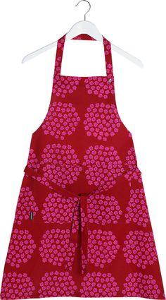 Marimekko Puketti Red and Pink Apron
