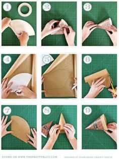 how to make paper cones by jeannie