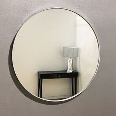 Large Arden Round Silver Mirror Extra Large Arden Silver Round Mirror Dimensions: Uses: Wall Mirror Delivery: Delivery can range from 24 Hours to 28 working days depending on current stock levels and delivery schedules. Silver Framed Mirror, Metal Mirror, Wall Mirror, Large Round Mirror, Round Mirrors, Dark Painted Walls, Industrial Chic Decor, Modern Industrial, Plasterboard Wall