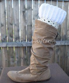 Boot Cuffs women, Crochet boot cuff, Boot Cuff Set, White Boot Cuffs, Stocking Stuffer